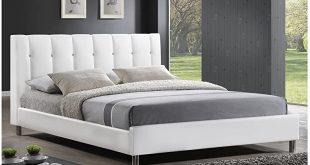 Amazon.com - Baxton Studio Vino Modern Bed with Upholstered .