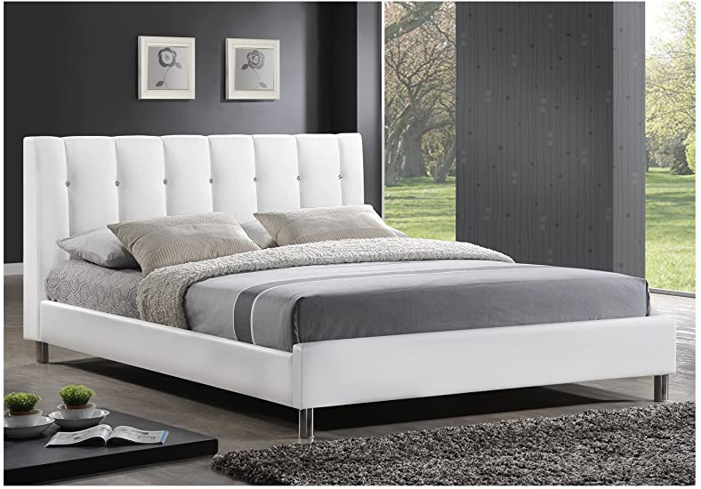 Amazon.com - Baxton Studio Vino Modern Bed with Upholstered .