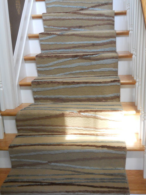 Custom Modern Stair Runners - Traditional - Staircase - New York .