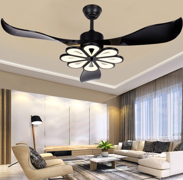 2020 LED Modern Ceiling Light Fan Black Ceiling Fans With Lights .