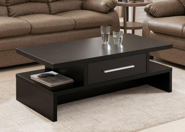 Modern Coffee Table Rectangular Design Drawer Living Room .