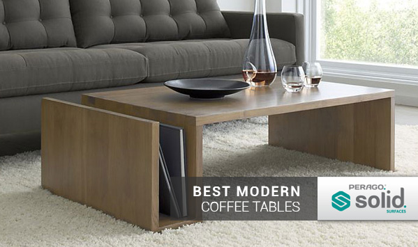 Best Modern Coffee Tables - Solid Surfac