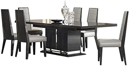 Amazon.com - Valentina Modern Dining Room Set in Grey Lacquer .