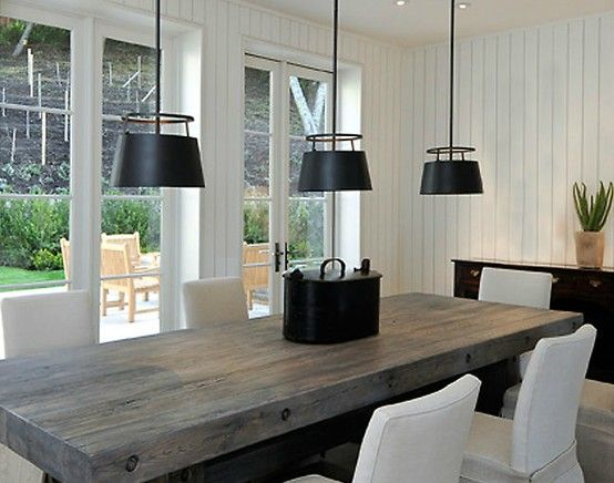 modern gray dining table - Google Search | Modern farmhouse dining .