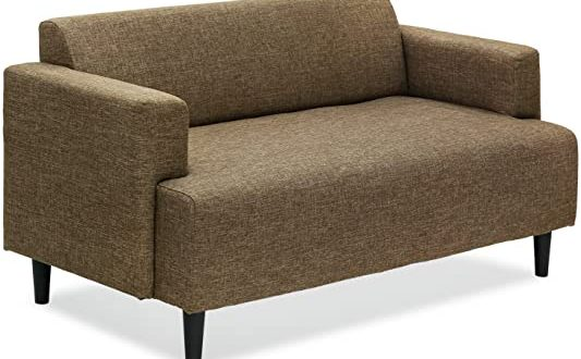 Amazon.com: Furinno Simply Home Modern Fabric Sofa Bed, Brown .