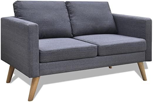 Amazon.com: vidaXL Modern Fabric Sofa 2-Seater Couch Wooden Frame .