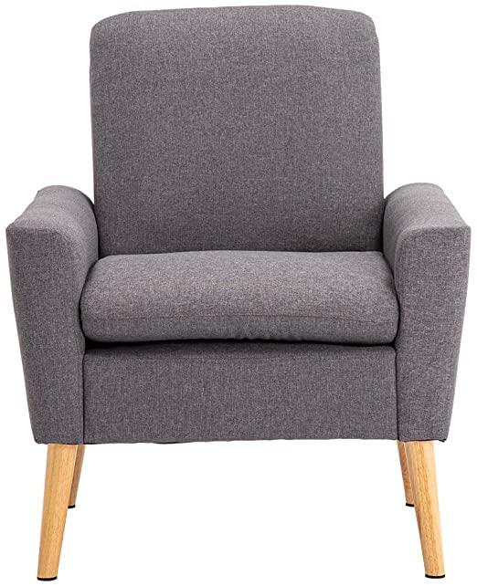 Amazon.com: (75 x 74 x 88) cm Modern Fabric Sofa Upholstered Gray .