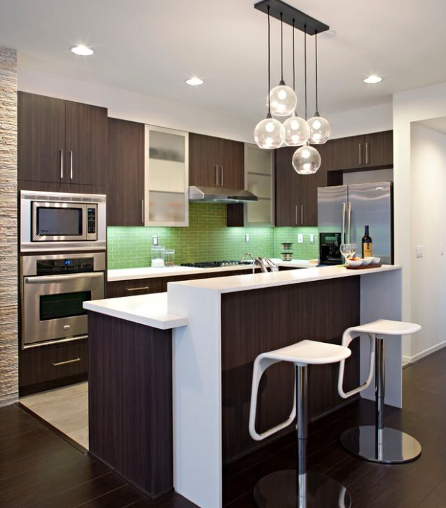 Open kitchen design for small apartment | Modern kitchen design .