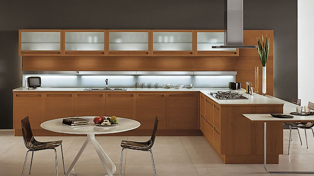 20 Sleek and Natural Modern Wooden Kitchen Designs | Home Design Lov