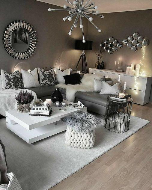 53+ The Secret Of Modern Living Room Grey Apartment Decorating .