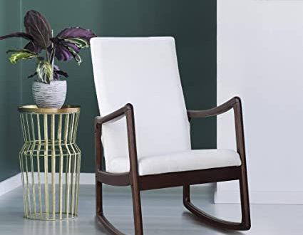 Amazon.com: Festnight Modern Rocking Chair Living Room Chairs with .