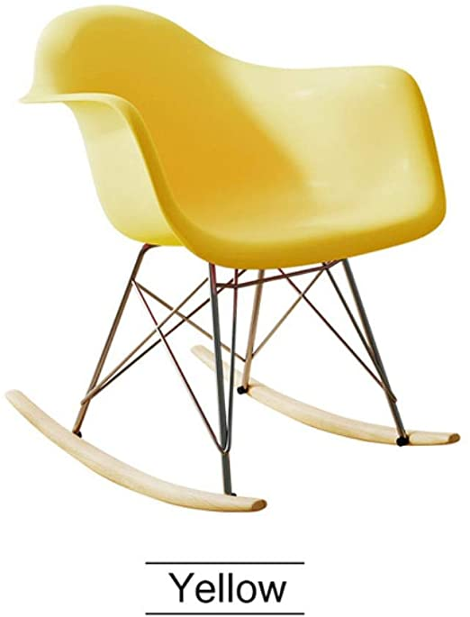 Amazon.com: Modern Minimalism Rocking Chair Solid Wood Art Rocking .