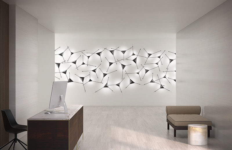 Lighting Ideas - This Modern Sconce Doubles As Wall A