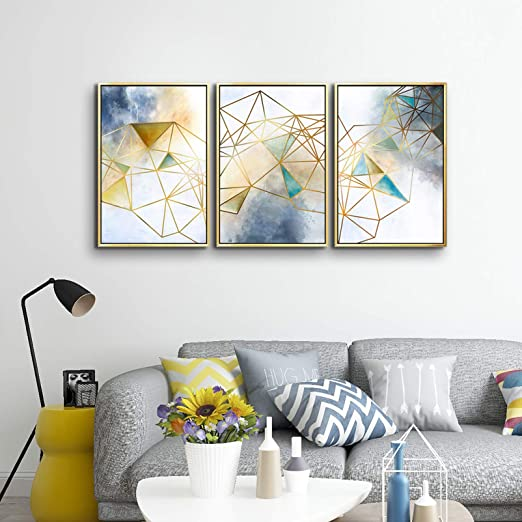 Amazon.com: ARTLAND Geometric Wall Decor Abstract Canvas Wall Art .