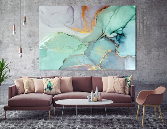 Modern Wall Art Abstract Bedroom Print Office Painting | Et