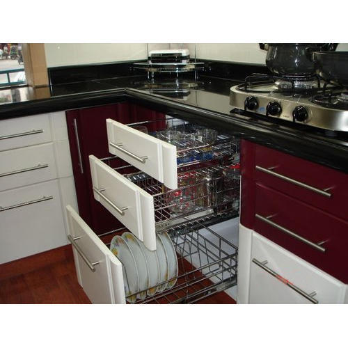Modern Modular Kitchen Cabinet, Sai Interior & Decorators | ID .