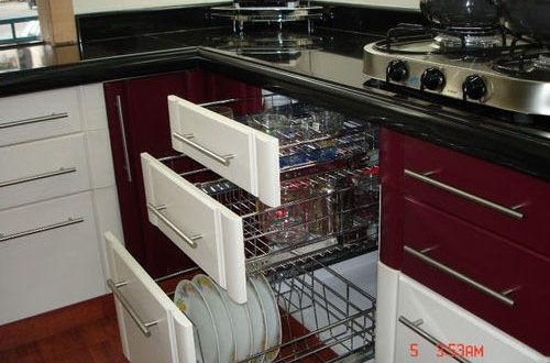 Modern Stainless Steel Modular Kitchen Cabinet, Rs 60 /square feet .