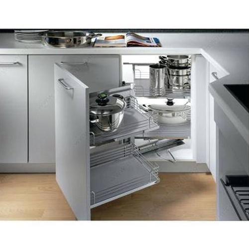 Modern Stainless Steel Idea Magic Modular Kitchen Cabinets, Rs .