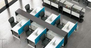 China 4 Seats Desk Front Screen Metal Frame Modular Office .