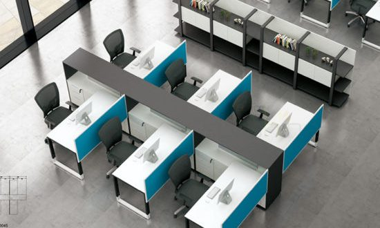 China 4 Seats Desk Front Screen Metal Frame Modular Office .