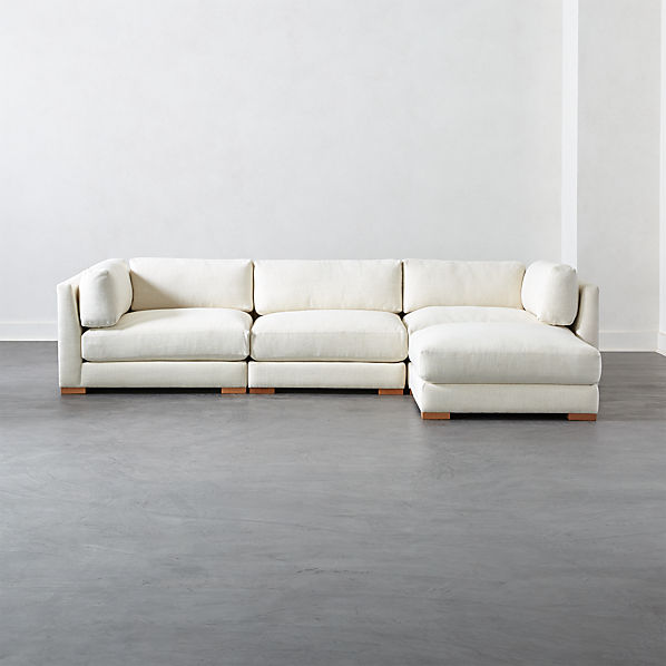 Piazza Snow 4-Piece Modular Sectional Sofa | C
