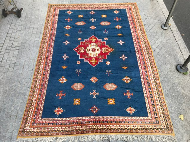 Large Vintage Moroccan Rug for sale at Pamo