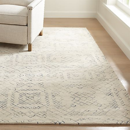 Azulejo Neutral Moroccan Style Rug | Crate and Barr