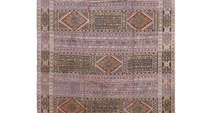 "Shop 1980s Vintage Pasargad Moroccon Sumak Weave Rug - 6'8""x 9'5 ."