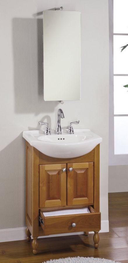 22 Inch Narrow Depth Console Bath Vanity - Custom Options | Narrow .