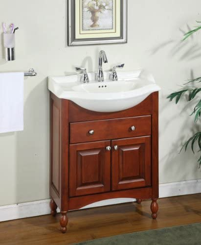 "Amazon.com: Windsor 26"" Narrow Depth Bathroom Vanity Base Base ."