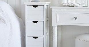 White Bedside Tables | Side tables bedroom, Slim bedside table .