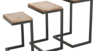 Tohono Nesting Tables Antique Firwood (Set Of 3) - Christopher .