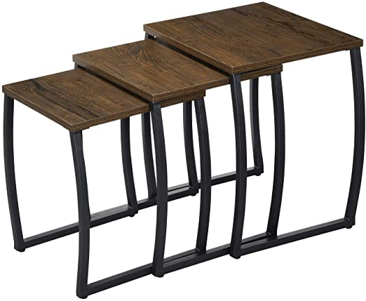 Amazon.com: Nesting Tables, Vintage Side End Tables Living Room .