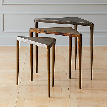 3-Piece Magma Metal Nesting Table Set + Reviews | C