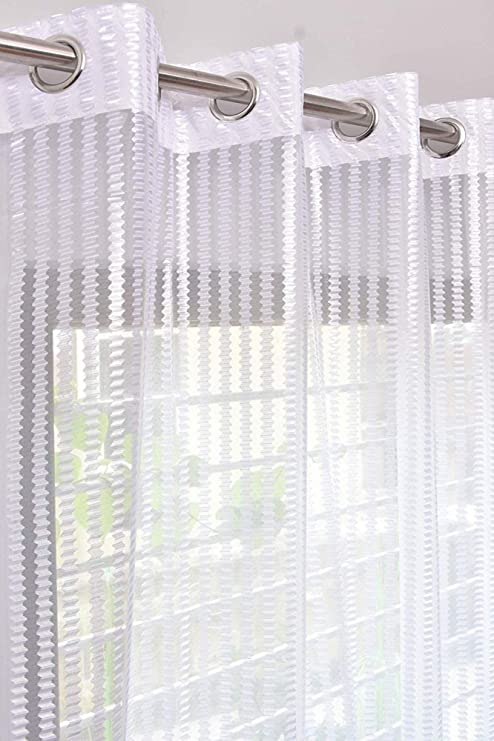 Buy Galaxy Home Decor Polyester Sheer Window Net Curtains for Long .