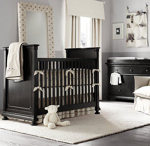 Dark nursery furniture only works if everything else is really .