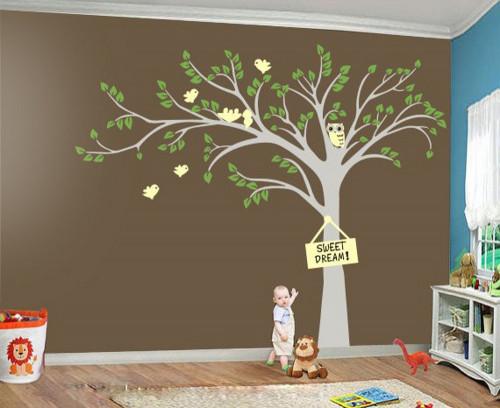 tree owl Wall Decals Nursery - Nursery Wall Decal - Tree Decal .