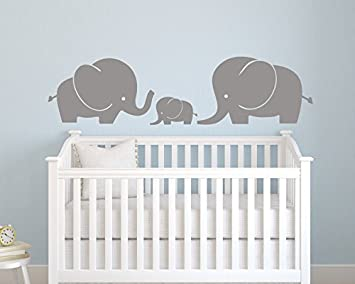 Amazon.com: Elephant Family Wall Decal - Nursery Wall Decals .