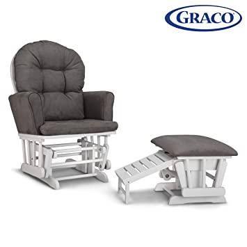 Amazon.com: Graco Parker Semi-Upholstered Glider and Nursing .