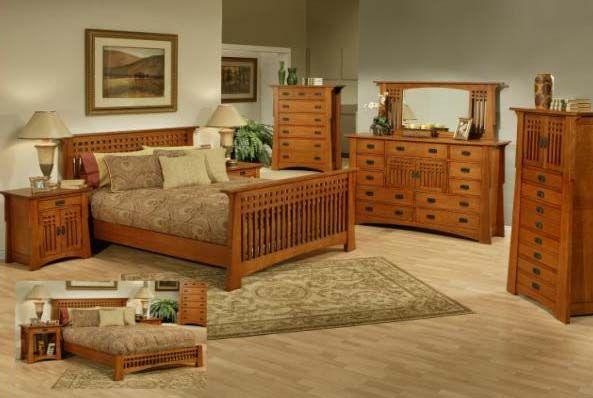 Mission Bedroom Furniture | Bungalow Mission Oak Bedroom Set .