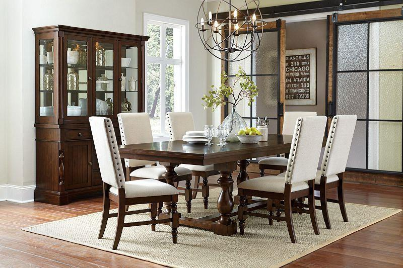 Yates Dark Oak Dining Room Set – Regency Furnitu