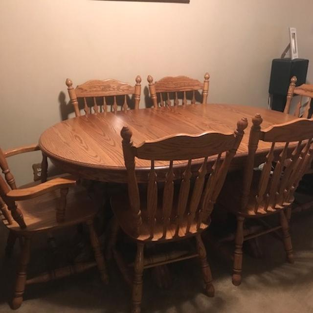 Best Amish Solid Oak Dining Room Set for sale in Hilliard, Ohio .