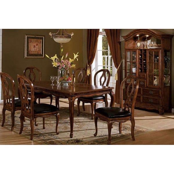Shop Furniture of America Monreau 7-piece Antique Oak Dining Set .
