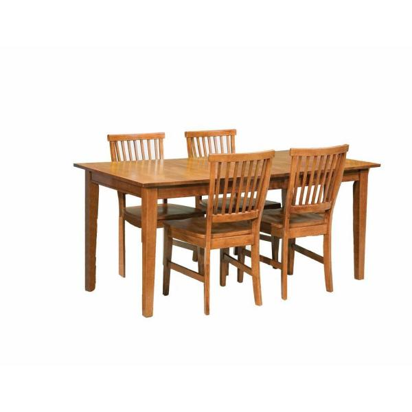 HOMESTYLES Arts and Crafts 5-Piece Cottage Oak Dining Set 5180-318 .