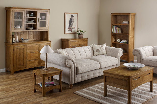Orrick - Rustic Solid Oak Living Room. - Traditional - Living Room .