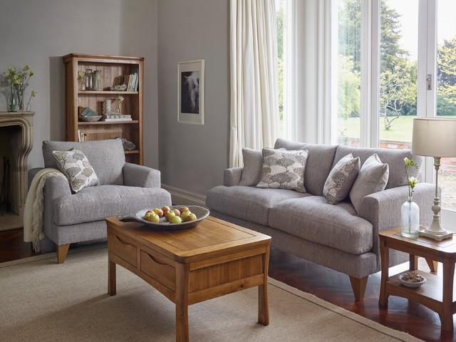Orrick Rustic Oak Living Room - Rustic - Living Room - Wiltshire .
