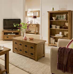 Bordeaux Rustic Oak Living Room Furniture | Oak furniture living .