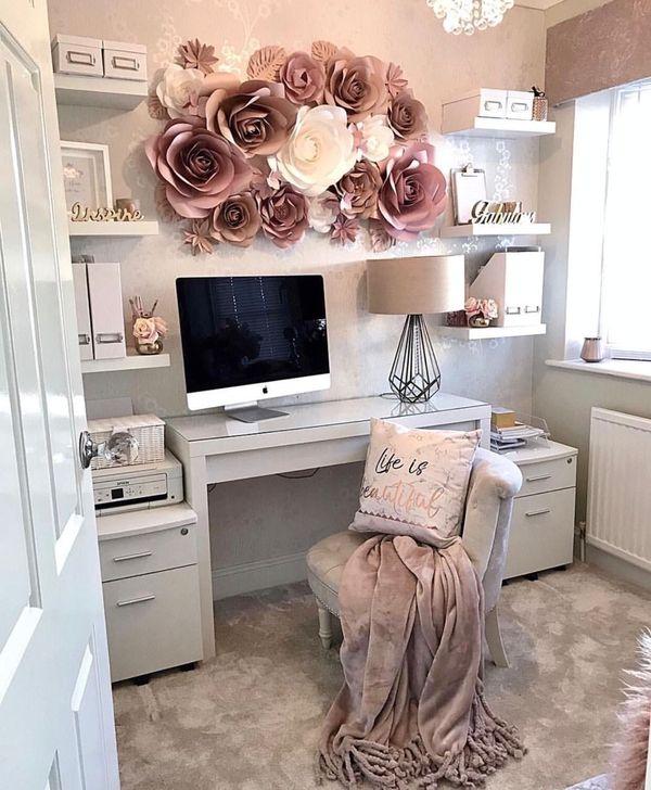 48 Brilliant Home Office Decoration Ideas - HOMYSTY