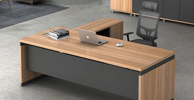 Source Latest modern l-shape executive wooden office tables design .