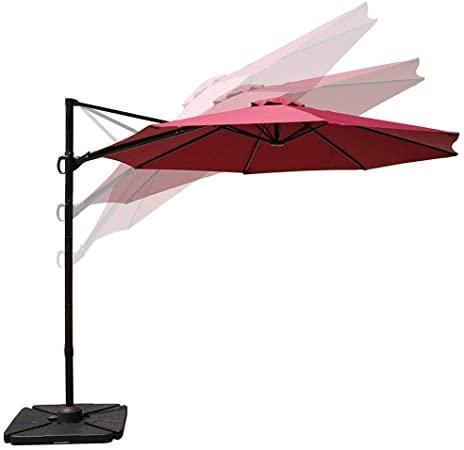 Amazon.com : COBANA 10ft Cantilever Offset Patio Umbrella with .